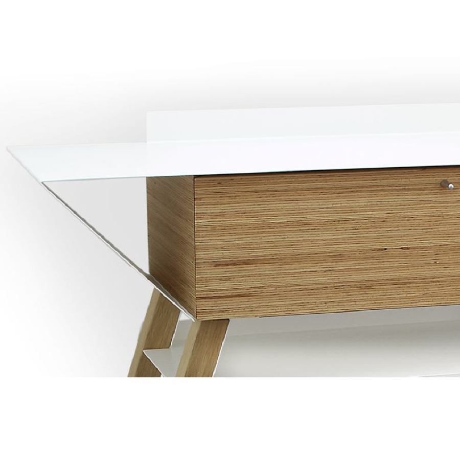 Modern Sideboard made of Oak and Steel