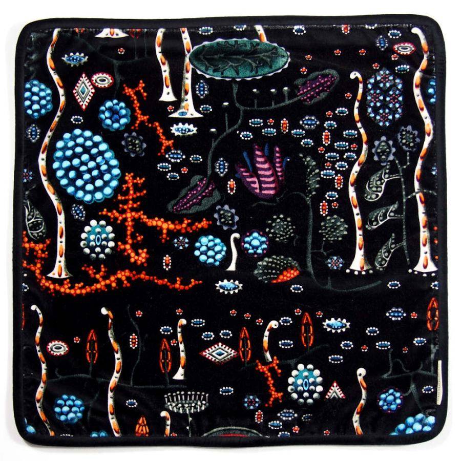 "Velvet Cushion Sleeve  ""Black Lake"" (50 x 50 cm)"