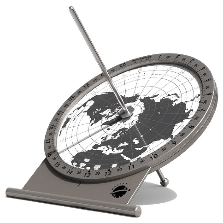 "Minute-Accurate Precision Sundial ""Polaris"" made of Stainless Steel (Ø 12 cm)"