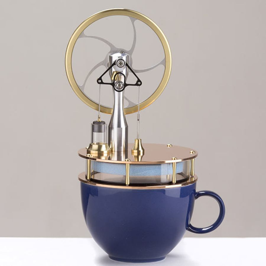 "Beautiful ""Coffee Engine"" with Copper Base"