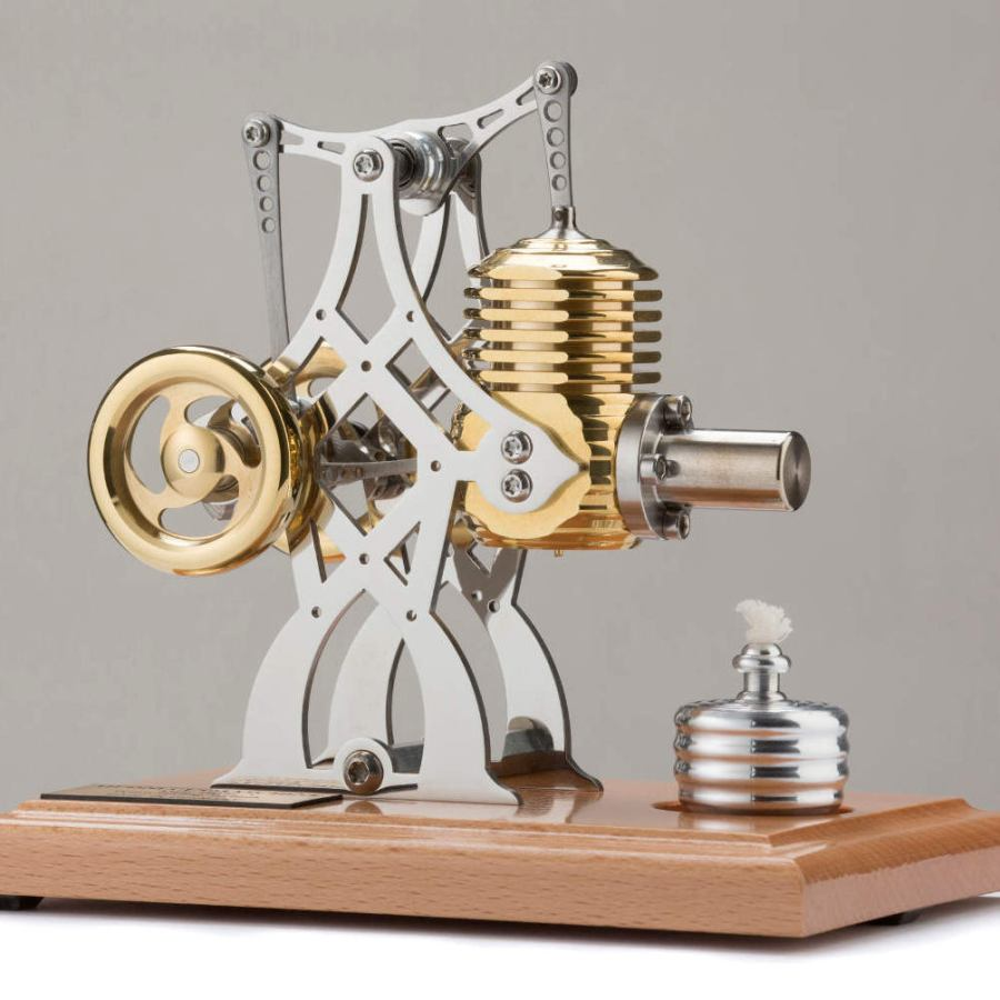 Fully Functional Stirling Model Engine in Bridge Shape