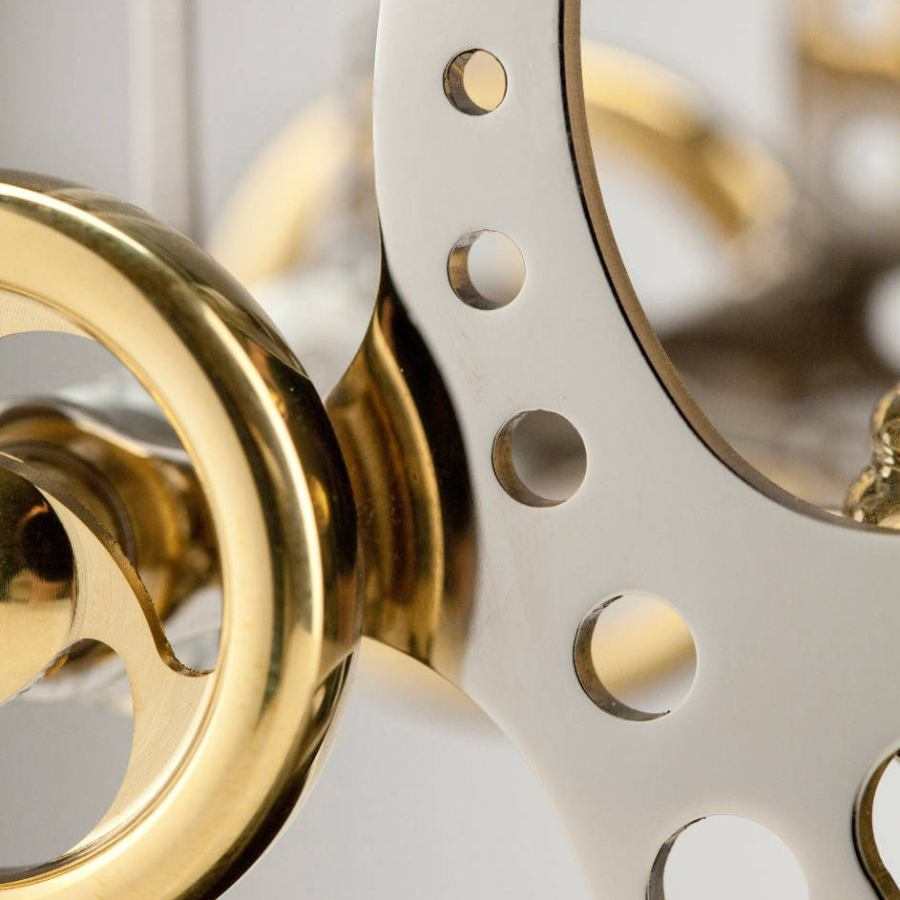 Double Stirling Engine made of Brass and Stainless Steel