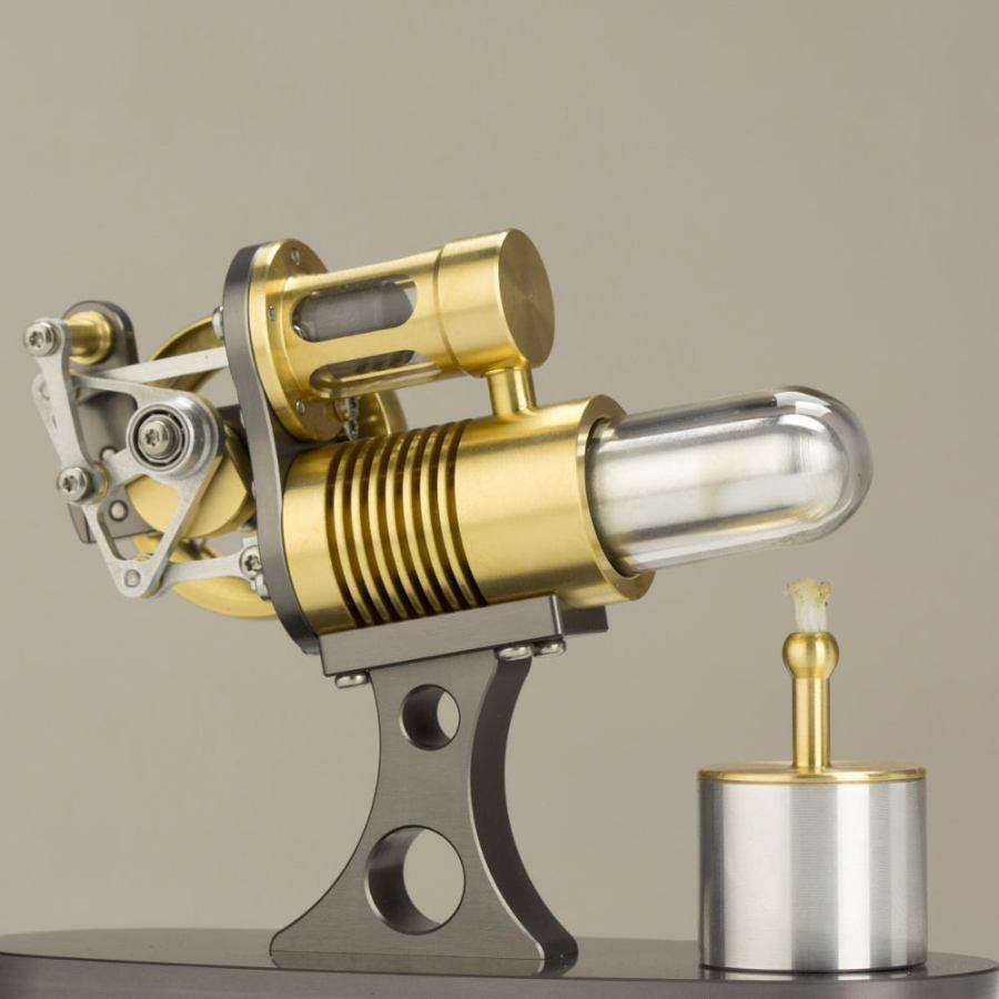 Real Stirling Engine with Transparent Pistons