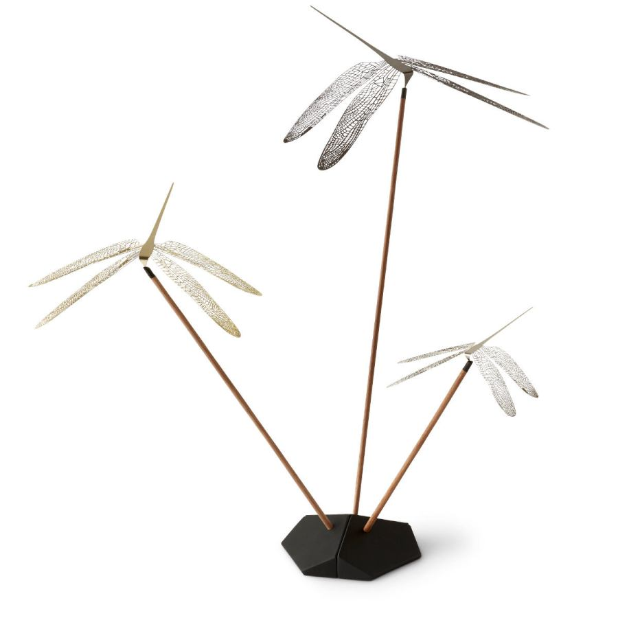 "Table Mobile ""Wonder Dragonfly"" made of Steel, Set of 3"