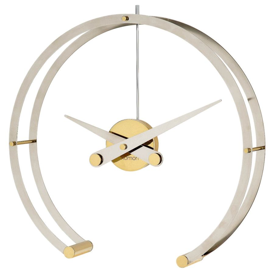"Exclusive Table Clock ""Omega"" with Double Steel Ring Ø 43 cm"
