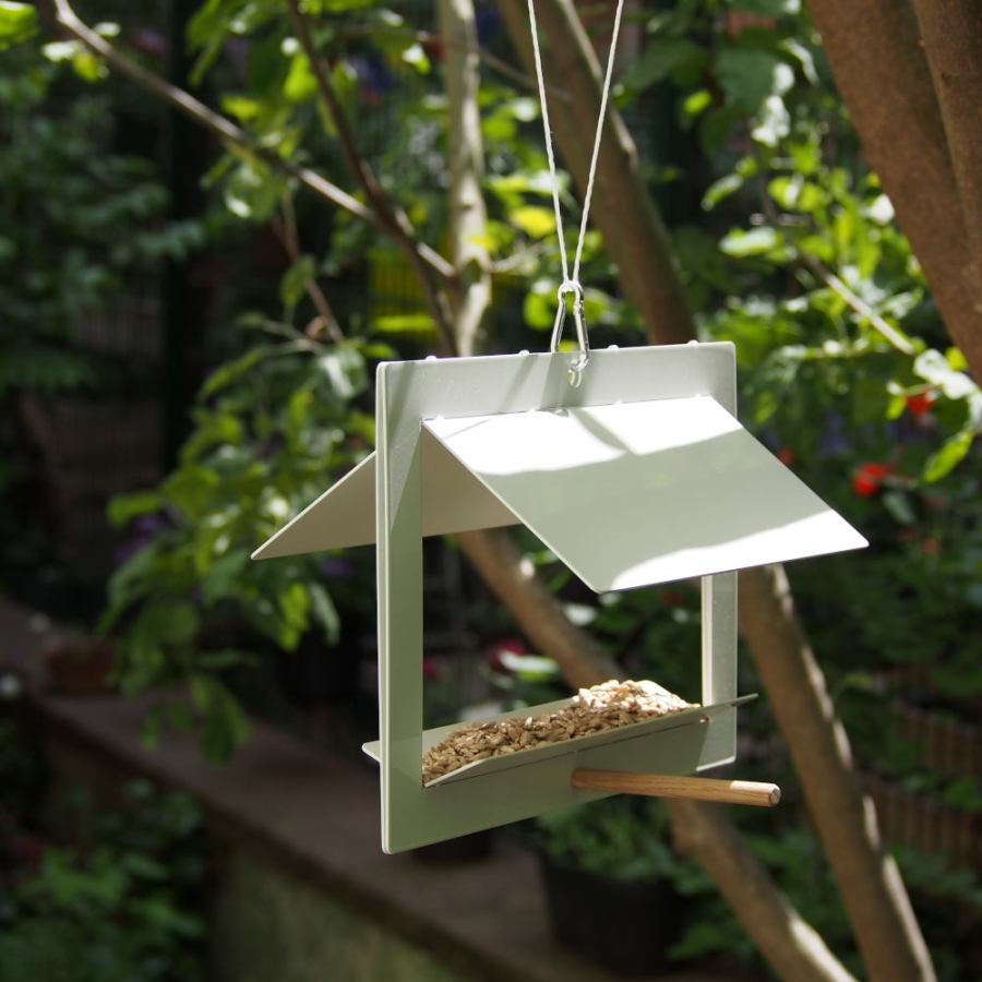 Folded Bird Feeding Station made of Steel in A4 Size
