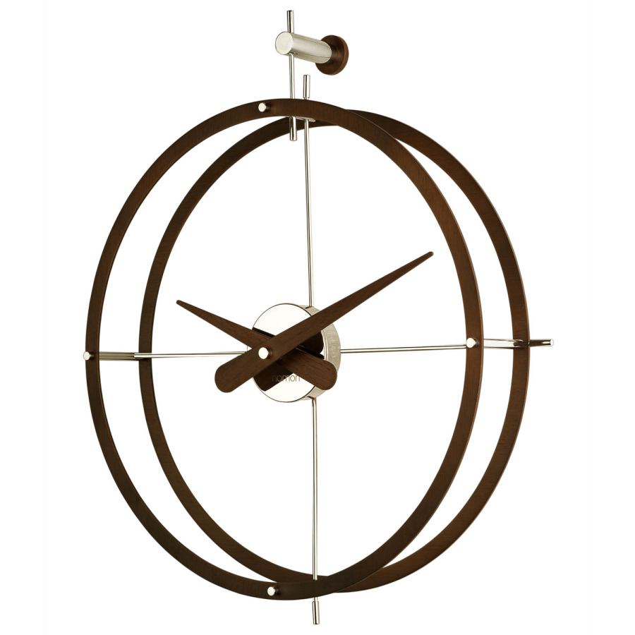 "Design Wall Clock ""2 Puntos"" with Double Ring made of Wood / Steel / Brass Ø 43 cm"