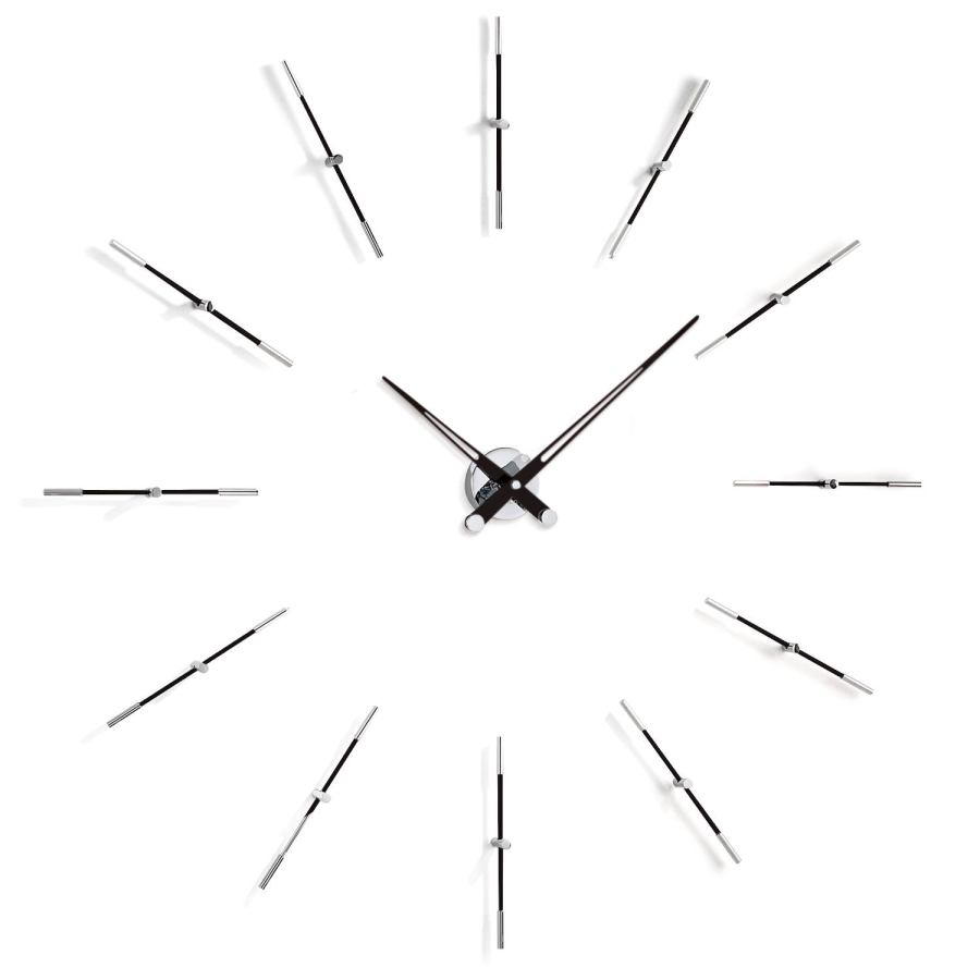 "Large Design Wall Clock ""Merlín"" made of steel Ø 110 cm"