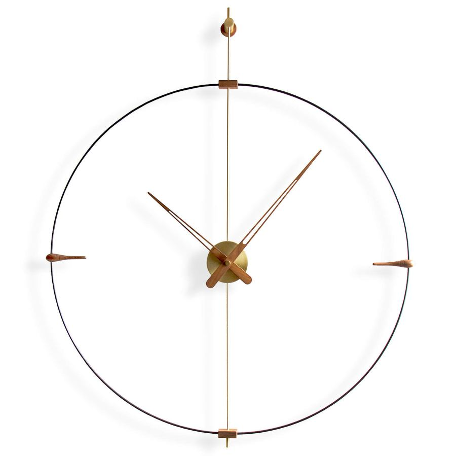 "Slim Design Wall Clock ""Mini Bilbao"" with Fiber Glass Ring Ø 77 cm"
