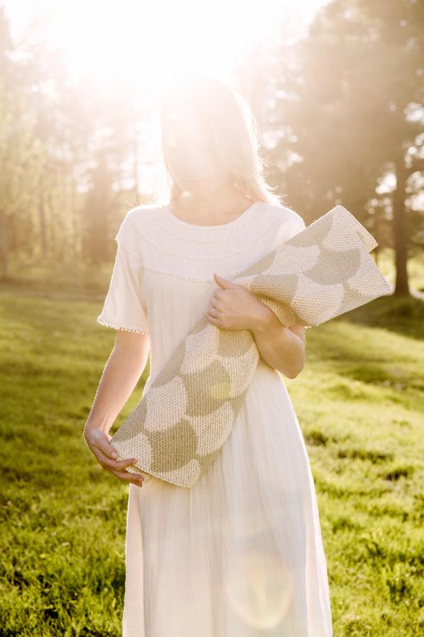 Swedish Rug Gerda Khaki Woven From Plastic Foil