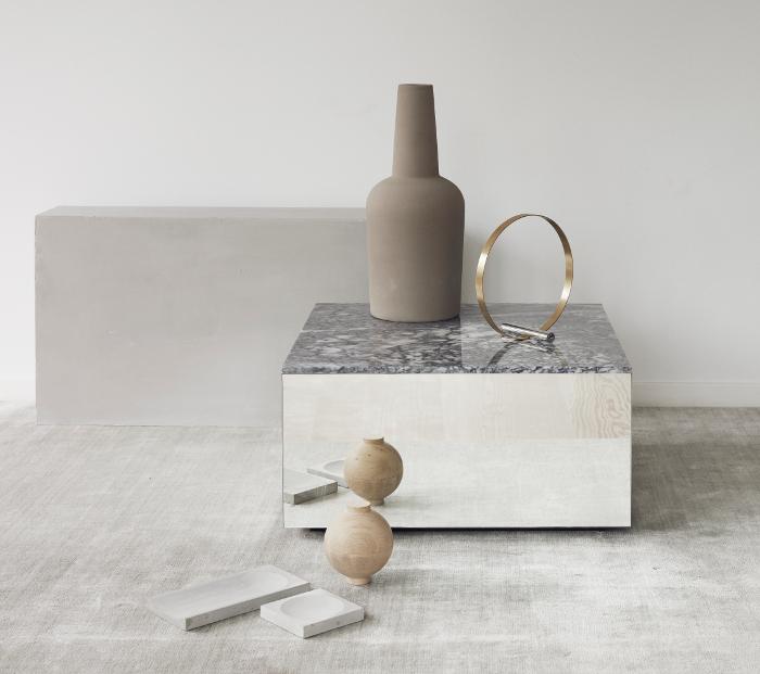 Verspiegelter couchtisch mit marmorplatte kunstbaron for Couchtisch marmorplatte