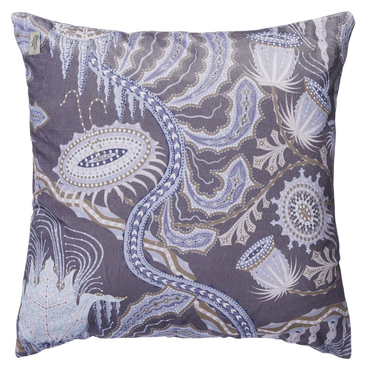 "Cushion Sleeve ""Ice Palace"" (Dark) made of Velvet"