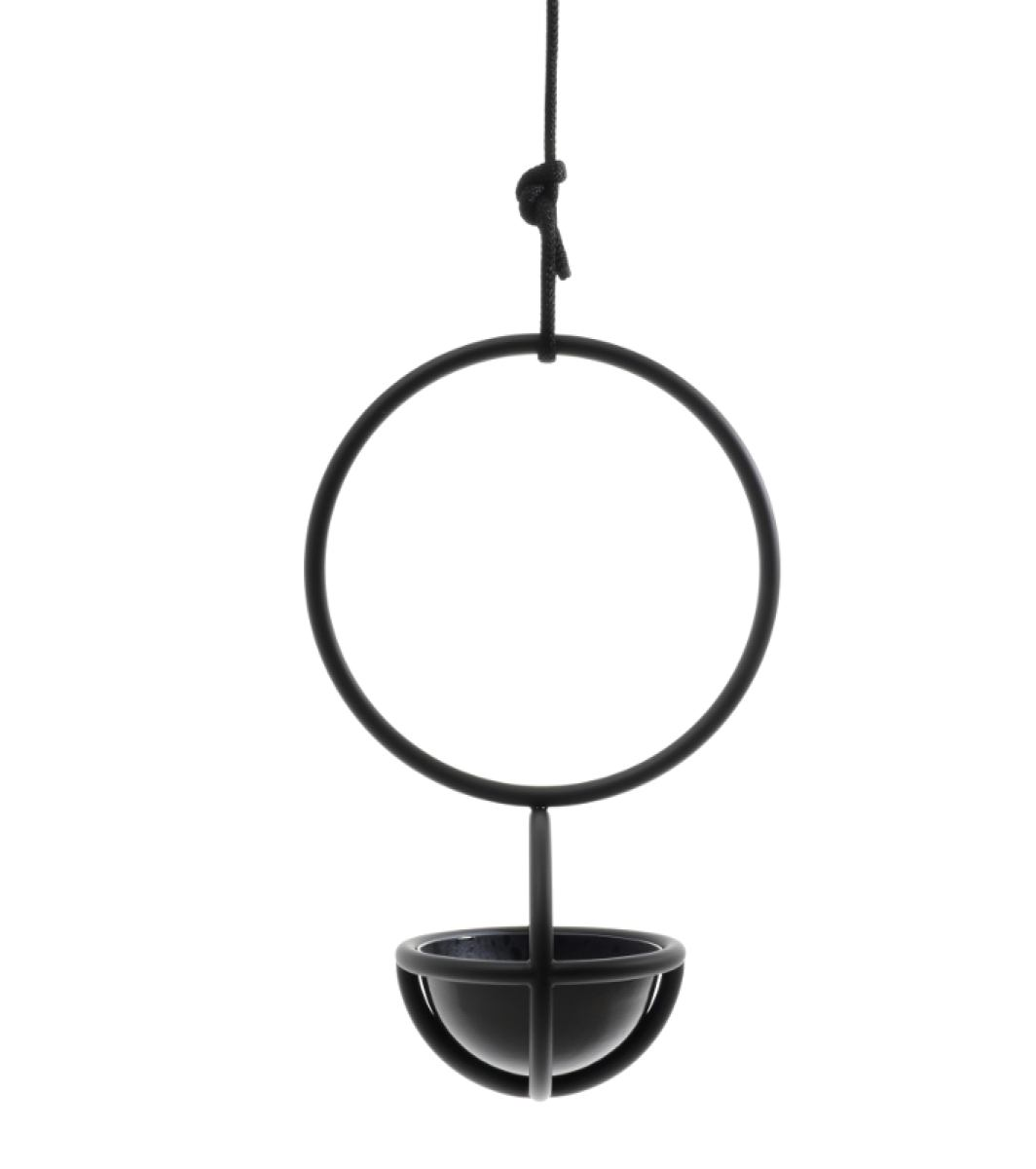 Round hanging planter (pot) with ship rope