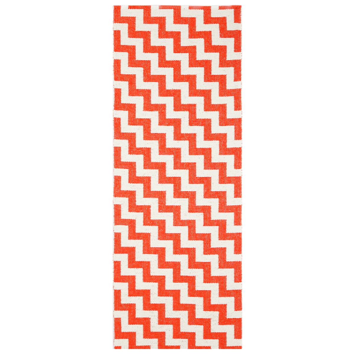 "Design Rug ""Gunnel"" (red) made of plastic