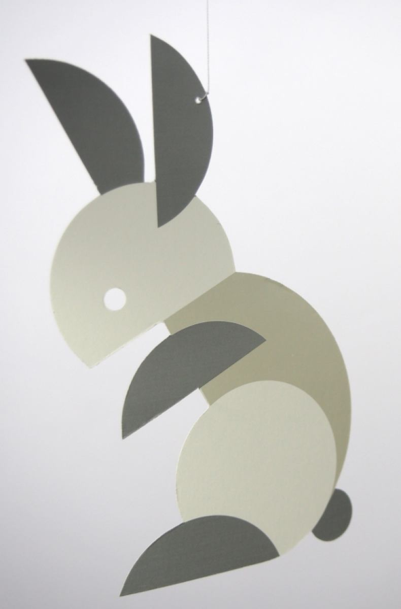 Circular Bunnies - Mobile for babies and children by Flensted | Kunstbaron