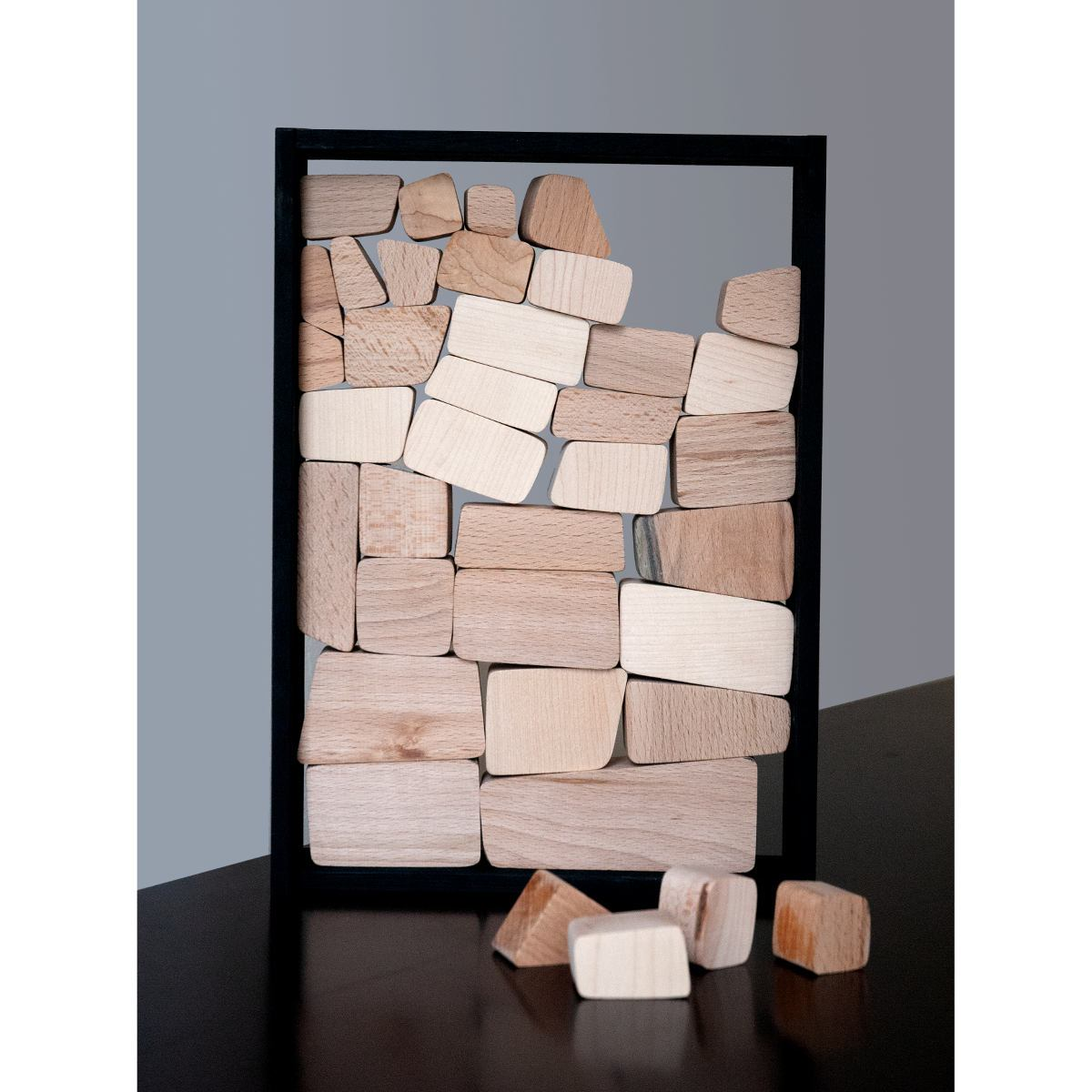Stone Wall Puzzle Toy made of Wood