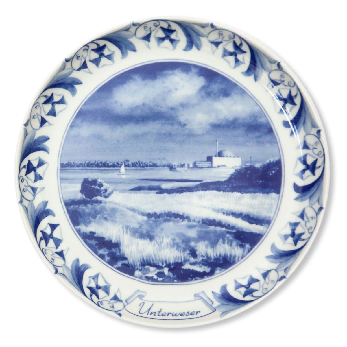 Nuclear Plate Unterweser made of porcelain | Kunstbaron