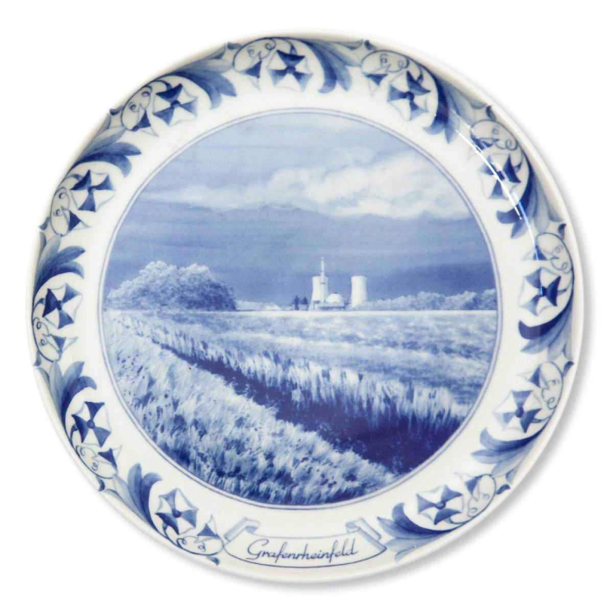 Nuclear Plate Grafenrheinfeld made of porcelain | Kunstbaron
