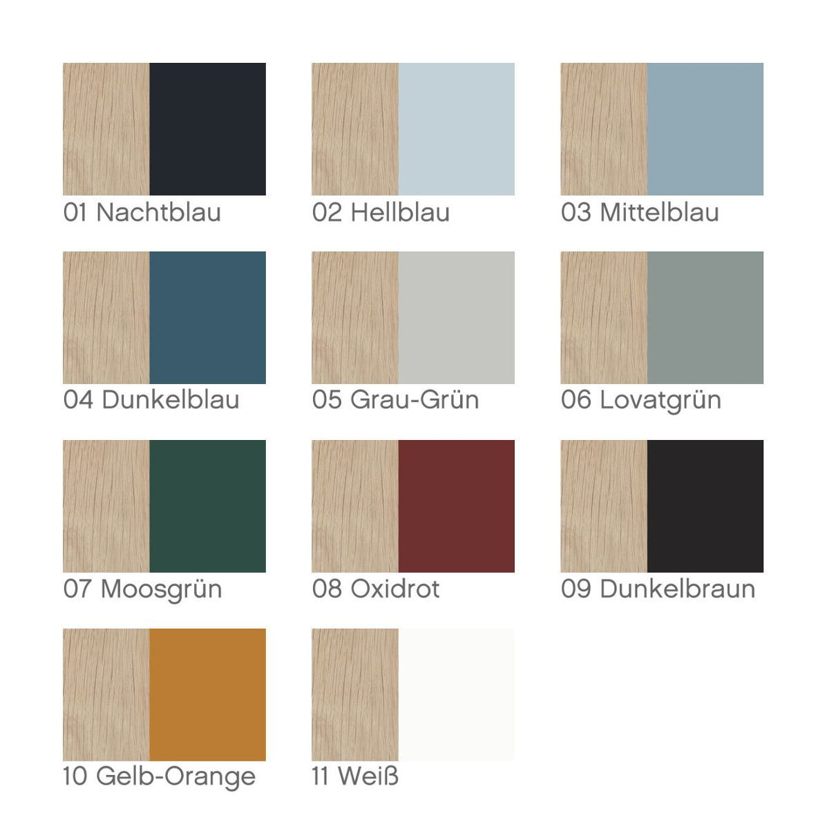 Standard colors for the back walls