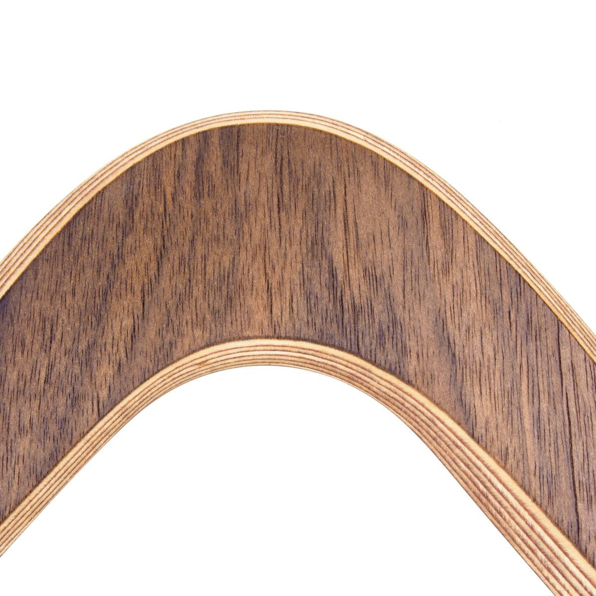 "Handcrafted Triple-Wing Boomerang ""Walnut"" made of Birch and Walnut Wood (flies 20 m)"