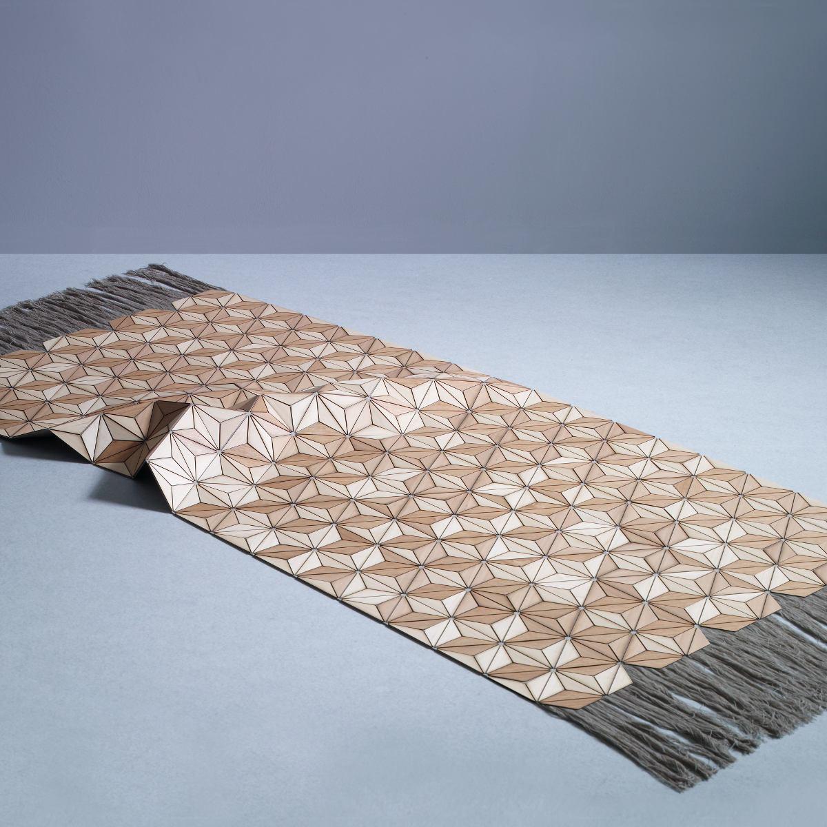 designer teppich ashdown aus holz und leinen kunstbaron. Black Bedroom Furniture Sets. Home Design Ideas