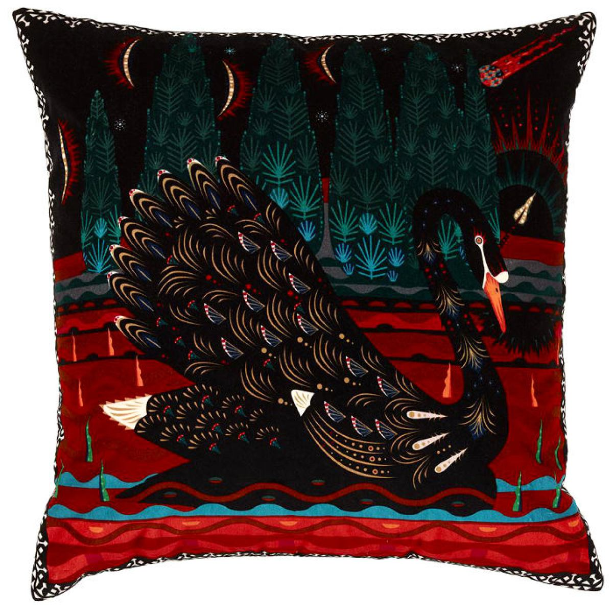 "Exclusive Cushion sleeve  ""Black Swan"" made of Velvet"