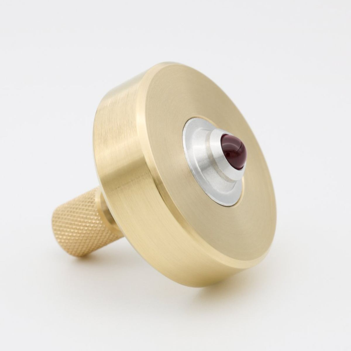 "Exclusive Spinning Top made of Brass and Ruby ""MK1"""