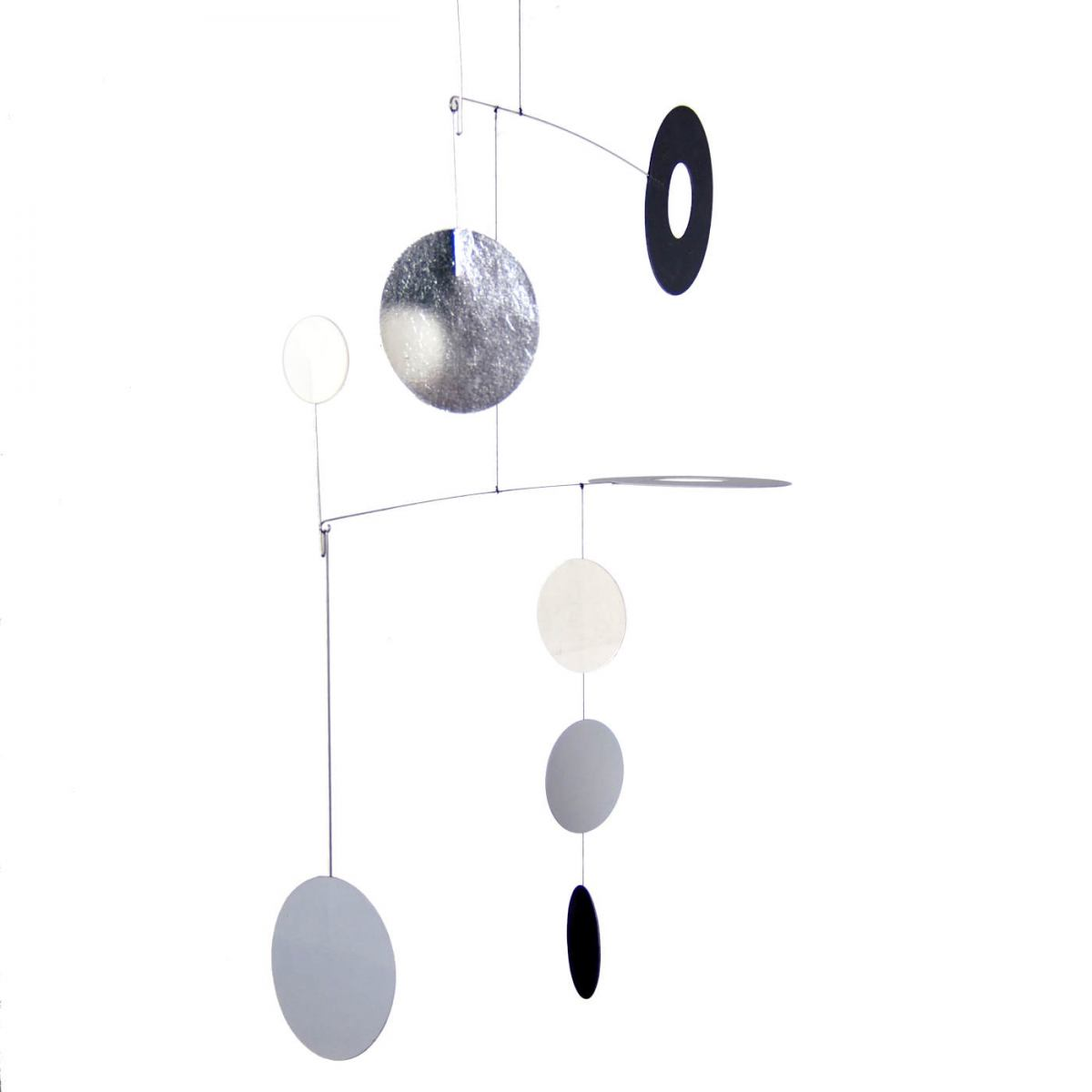 "Art mobile ""Sila"" with White Gold Element (55 x 55 cm)"