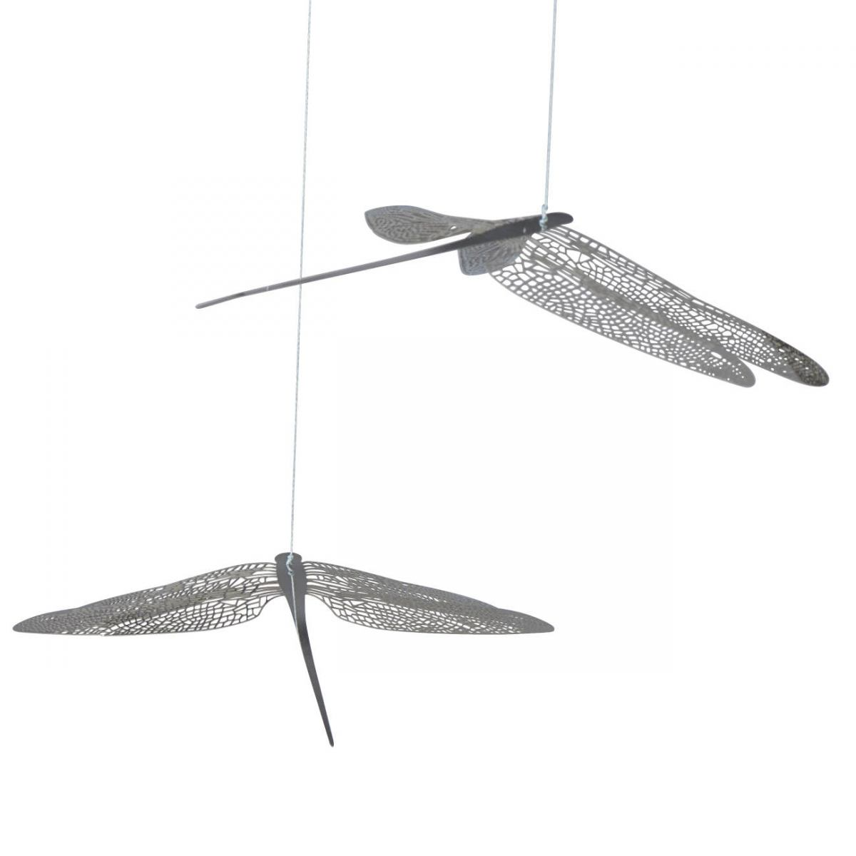 Mobile with Six Filigrane Dragonflies made of Steel (80 x 100 cm)