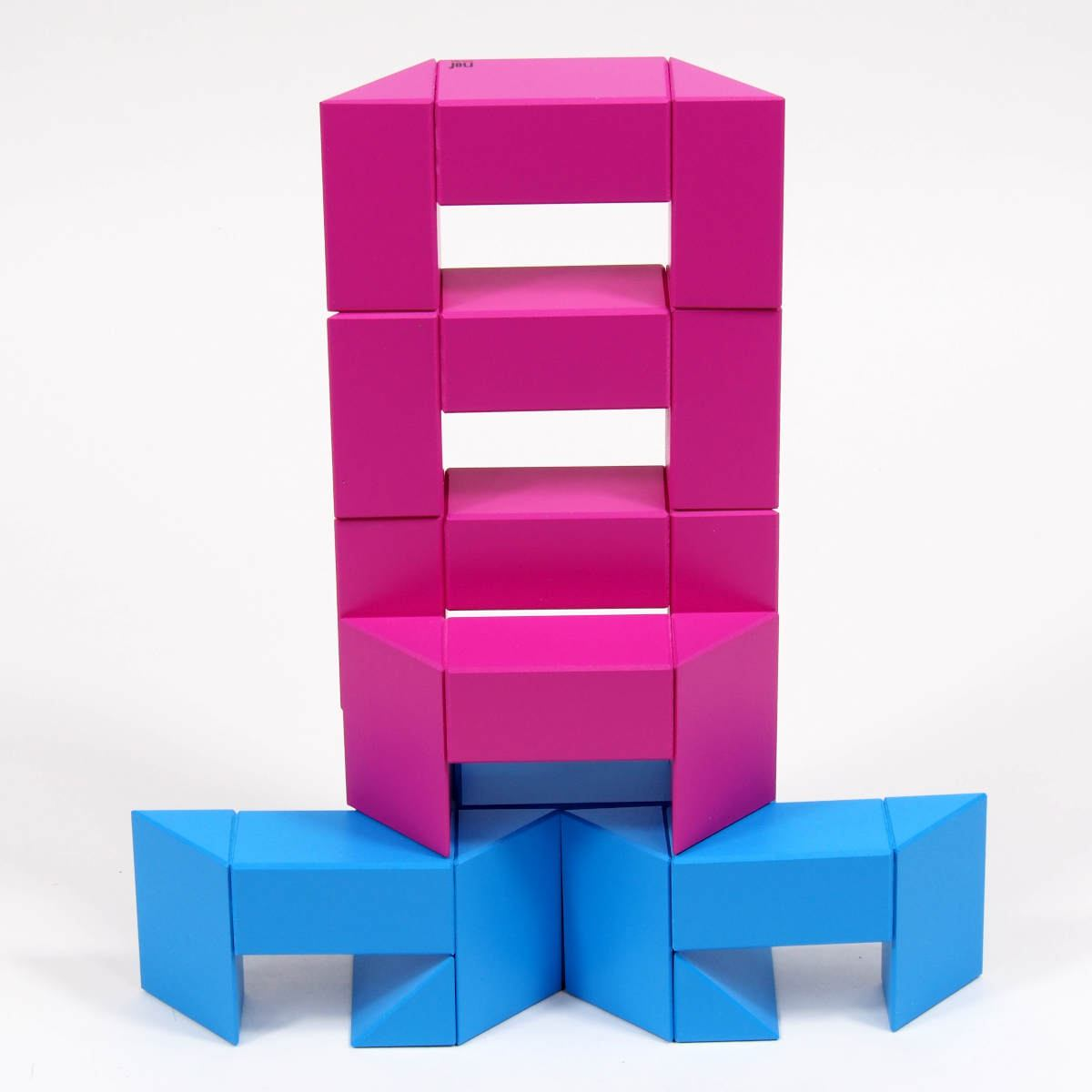 Construction toy Ponte (magenta / blue) by Naef Spiele, Switzerland
