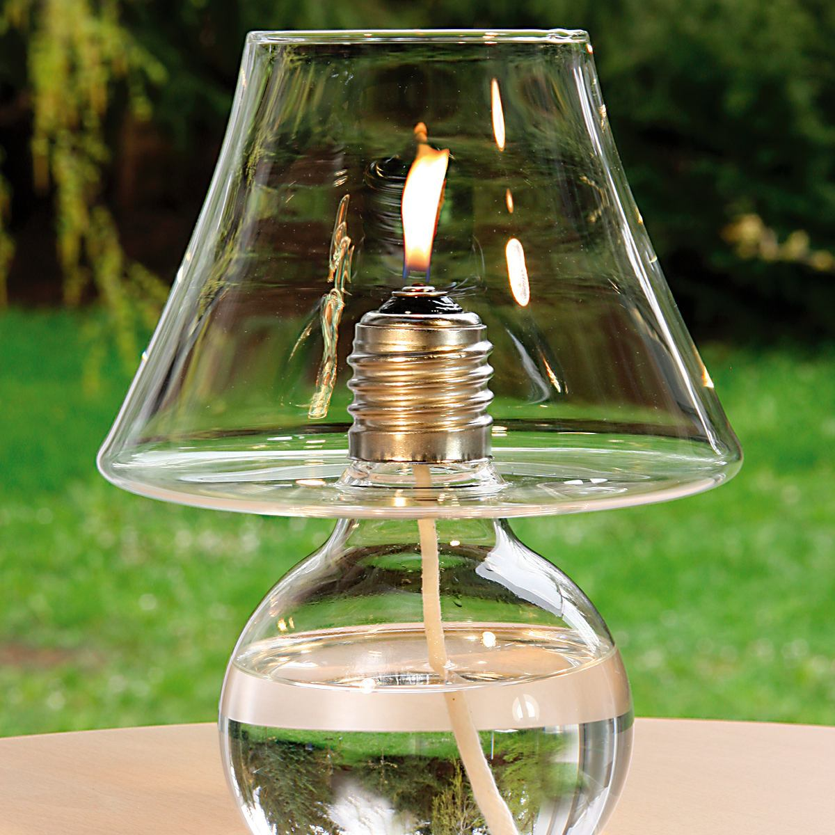 Quirky Table Oil Lamp made of Glass