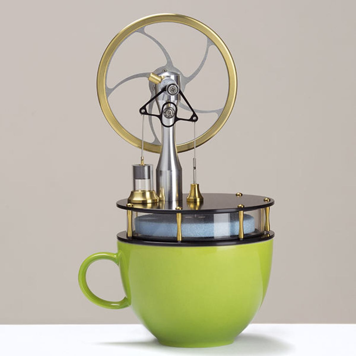 "Beautiful ""Coffee Engine"" with Black Base"