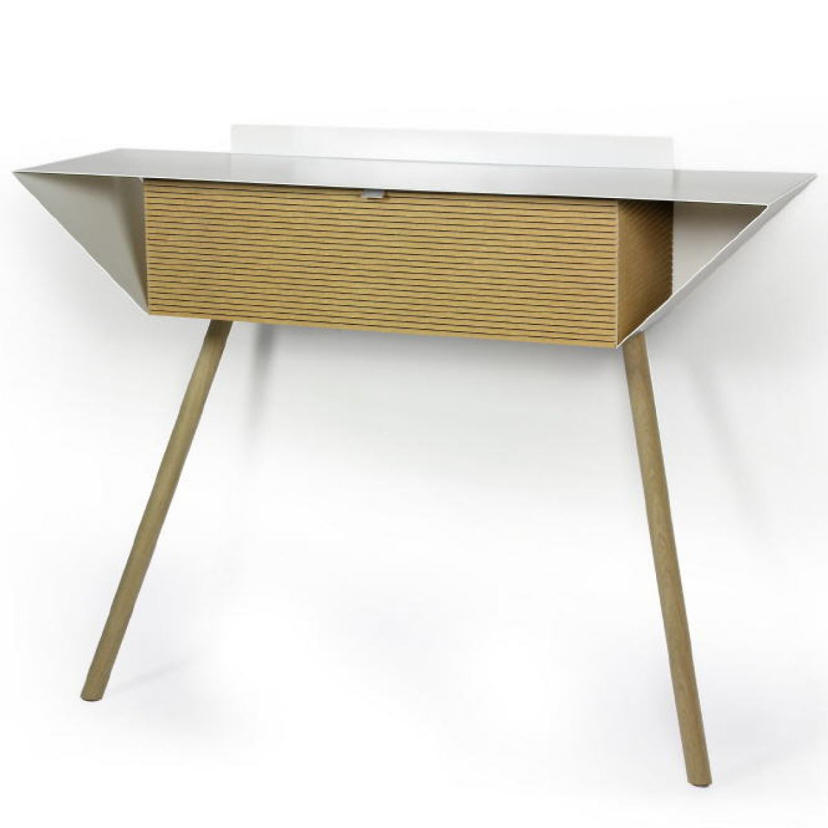 Wall-leaning Sideboard made of Steel and MDF (100 x 28 cm)