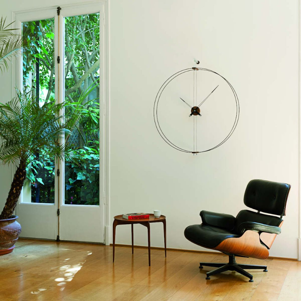"Iconic Double Ring Design Wall Clock ""Barcelona"" Ø 90 cm"